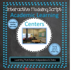 Interactive Modeling Script Academic Learning Centers