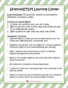 Academic Learning Center Sample Task Card
